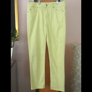 NYDJ Yellow Stretch Ankle Jeans 10P